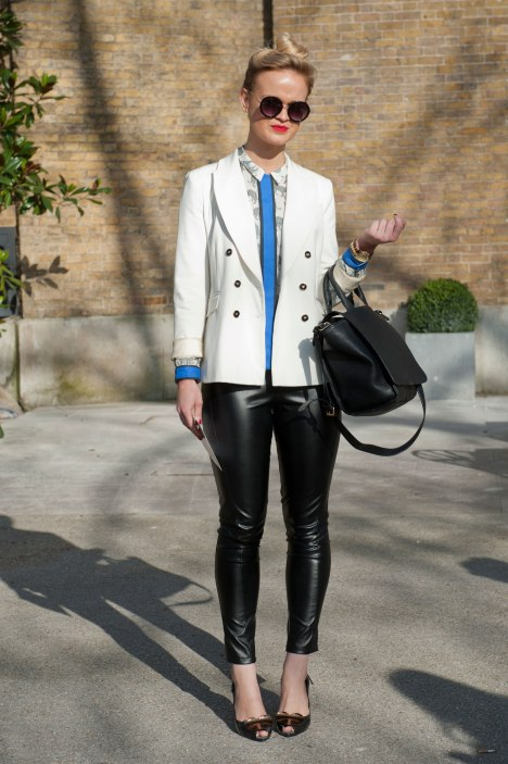 preppy-boyish-white-blazer-added-charm-leather-leggings