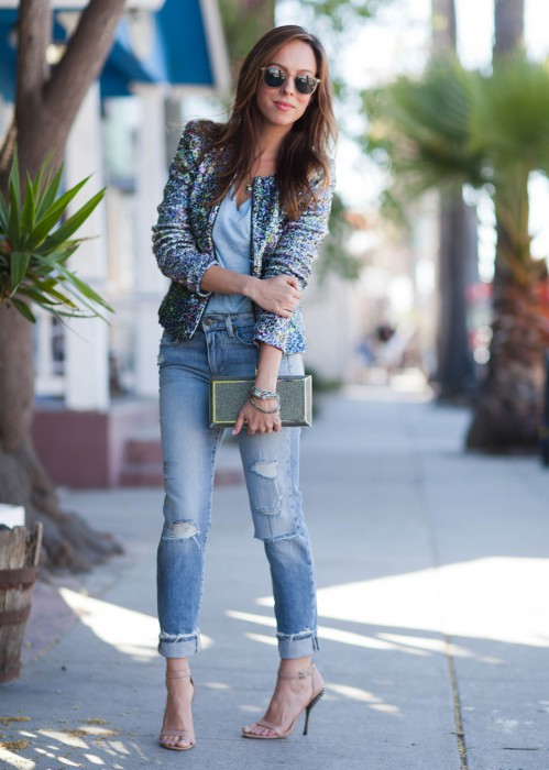Sydne-Style-Joes-Jeans-sequin-jacket-vintage-reserve-jeans-ripped-denim-trend-old-navy-tees-street-style-venice-499x700