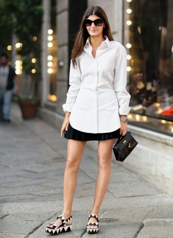 look-camisa-saia-flatforms-geo-street-style