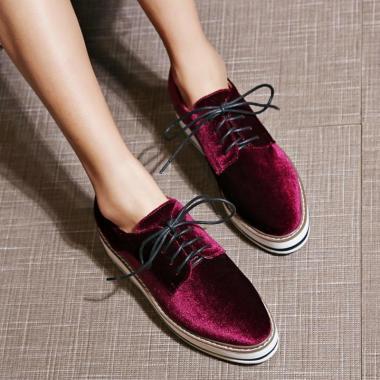Heavy-fundo-Sapatos-de-Plataforma-Para-As-Mulheres-Verde-Preto-de-Veludo-Sapatos-Mocassins-Creepers-Plataforma
