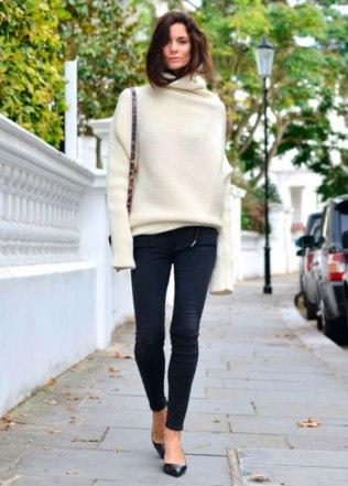 Maxi-Tricot-Jeans-Flat-Street-Style