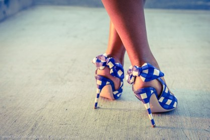 Gingham-shoes