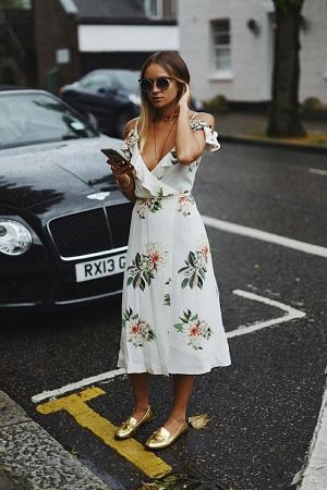 vestido-midi-floral-sliper-dourado-street-style-