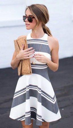 vestidos-do-verao-2018-listras-cinza