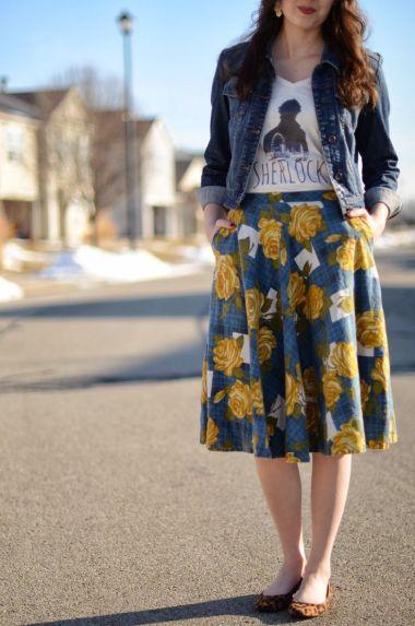 saia-floral-jaqueta-jeans
