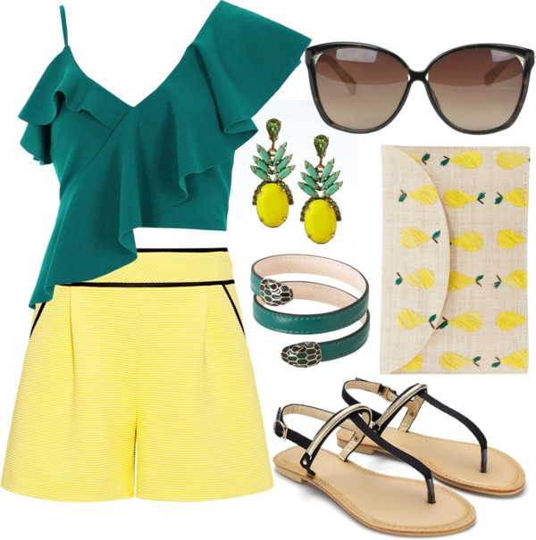 short-amarelo-colors