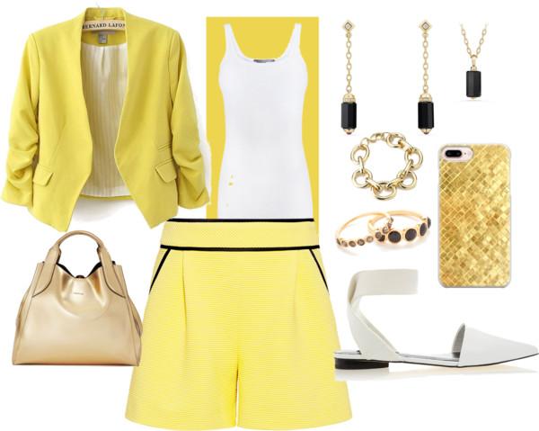 short-amarelo-sofisticado