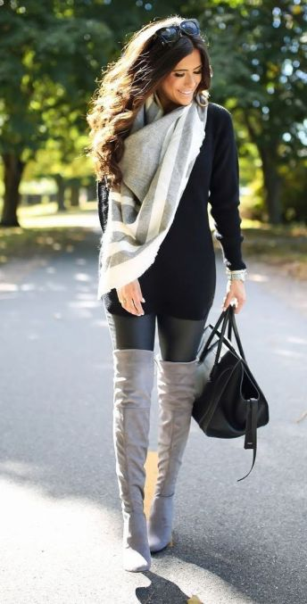 OTN Boots + faux leather leggings